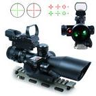 2.5-10X40 Tactical Rifle Scope with Red Laser & Green-Red