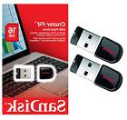 2 PACK - Sandisk Cruzer Fit 16GB USB 2.0 Flash Memory Pen