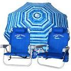 2 Blue Tommy Bahama Backpack Cooler Beach Chairs Plus + 7'