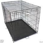 "2 Doors Black 42"" Pet Folding Suitcase Dog Cat Crate Cage"