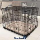 "36"" Large 2 Doors Pet Cat Dog Folding Cage Suitcase Kennel"