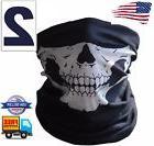 2 Ghost Biker Skull Hood Face Mask Motorcycle Ski Balaclava