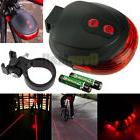 2 Laser +5 LED Flashing Lamp Light Rear Cycling Bicycle Bike
