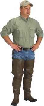 Caddis Men's 2 Ply Rubber Hip Boots, 11