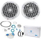 "2) Rockford Fosgate PM2652 6.5"" Marine Component Speakers+4-"