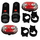 2 Set Cycling Bicycle 5 LED Bike Headlight Taillight