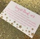 20 Book Request Cards For Girl Baby Shower Invitation Insert
