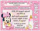 20 BABY MINNIE MOUSE BABY SHOWER INVITATIONS  - Printed with