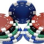 1000 Clay Composite 11.5 gram Dice Poker Chips - TEXAS