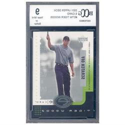 2001 upper deck e-card #etw TIGER WOODS golf rookie BGS BCCG 10 Graded Card