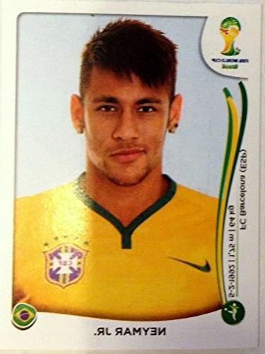 2014 FIFA World cup PANINI Brazil sticker card NEYMAR JR. #