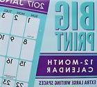 NEW 2017 Big Print 12 Month Wall Calendar 12x11 Extra Large