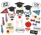 30PCS 2017 Graduation Party Masks Photo Booth Props Mustache