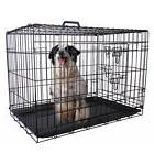 36'' 2 Doors Wire Folding Pet Crate Dog Cat Cage Suitcase