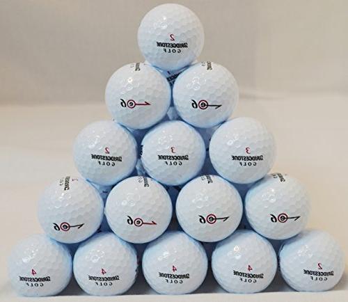 24 Bridgestone E6 White Golf Balls 3A/AAA Grade