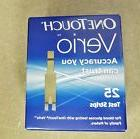 NEW 25 One Touch Verio Blood Glucose Test Strips Box Exp. 05