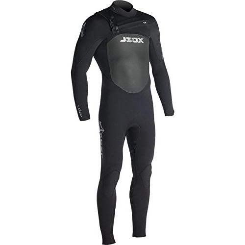 Xcel Wetsuits 3/2 Revolt X2 Full Suit, All Black with Silver
