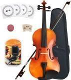 Crescent 3/4 Full Size Student Violin Starter Kit, Natural