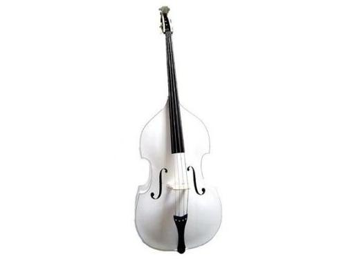 GRACE 4/4 Size White Upright Double Bass with Bag,Bow,Bridge