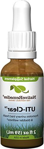 3 Bottles Native Remedies UTI-Clear Herbal Remedy for