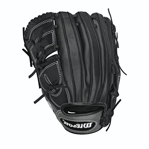 Wilson 6-4-3 Infield/Pitcher Baseball Glove, Black, 12-Inch