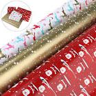 NICEXMAS 3 Rolls Christmas Gift Wrap Wrapping Paper