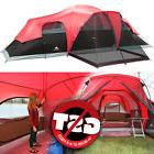 Ozark Trail 3 Room 10 Person Waterproof Tent Large Family
