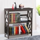 3 Tier Wood Bookcase Bookshelf Display Rack Stand Storage