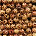 300 PAINTED Pattern Bamboo BEADS 12mm ROUND ~Lighter +