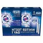 Oral-B Pro 3000 3D White Rechargeable Toothbrush 2 Pack NEW