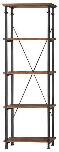 Homelegance 3228-12 Bookcase Shelves, Brown/Black