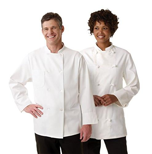 Medline 335ERS44 Knot Button Chef Coats, 44, White