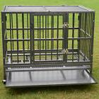 "XL 37"" Dog Cage Crate Heavy Duty Strong Metal Pet Kennel"