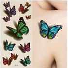 3D Temporary Butterfly Tattoo Sticker Body Art Rose Tattoos