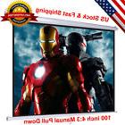 """100"""" 4:3 Manual Pull Down Projector Screen Home Theater"""