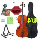 2017 FULL SIZE 4/4 ACOUSTIC CELLO STUDENT w/ TUNER, LESSON