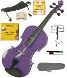 GRACE 4/4 Size Purple Acoustic Violin with Case and Bow+