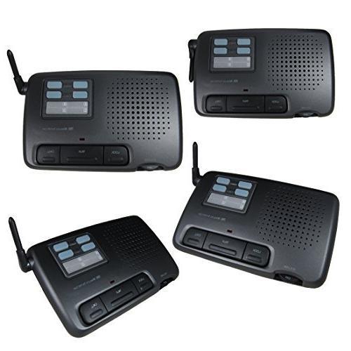 4-station Digital 4-channel FM Wireless Intercom for Home