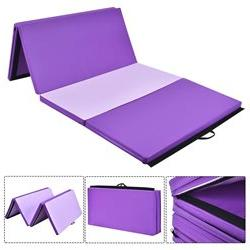 "4'x10'x2"" Gymnastics Mat Thick Folding Panel Gym Home"
