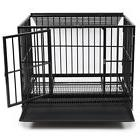 42'' Heavy Duty Black Crate Dog Cage Kennel Portable Pet