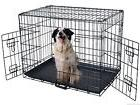 48'' 2 Doors Wire Folding Pet Crate Dog Cat Cage Suitcase