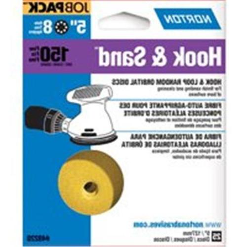 Norton 49220 5 inch Hook & Sand Disc 8 Hole 150 Grit