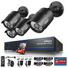 SANNCE 1080P 4CH AHD DVR 2MP Outdoor Night Vision Security
