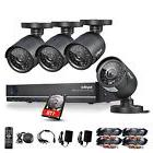 SANNCE 4CH Full 720P DVR Video IR HD CCTV Security Cameras