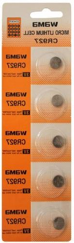 5 Powertron CR927 Lithium Button Cell batteries, 5-Pcs Card