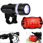 5 LED Lamp Bike Bicycle Front Head Light + Rear Safety