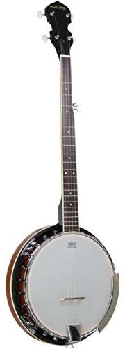 5-String Banjo 24 Bracket with Closed Solid Back and Geared
