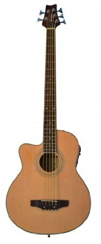 5 String Cutaway NATURAL Acoustic Electric Bass with 4 EQ