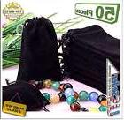 50 Bag Gift Small Black Velvet Cloth Jewelry Pouch