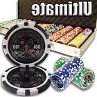 New 500 Ultimate 14g Clay Poker Chips Set with Aluminum Case